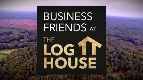 Business Friends at the Log House